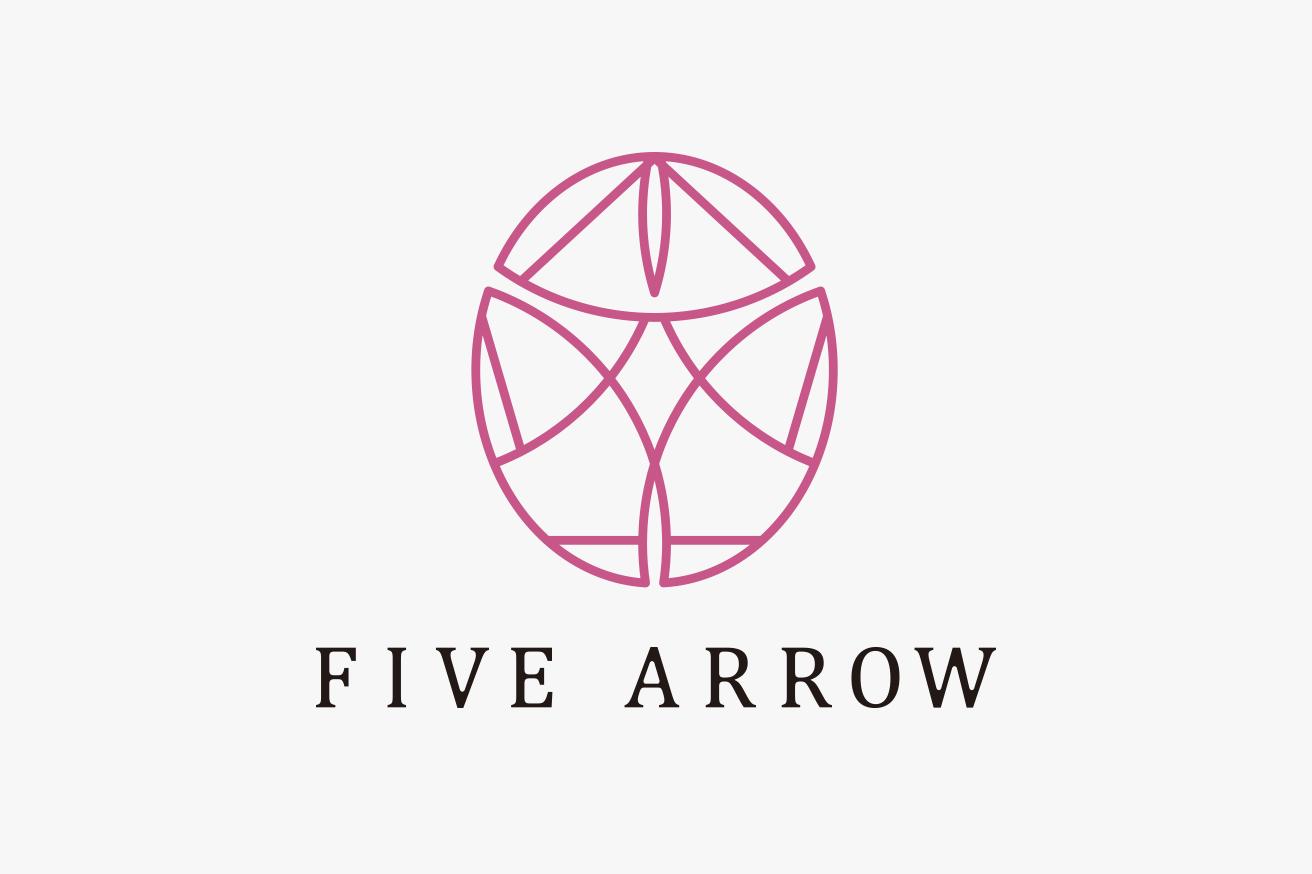 five arrow ロゴデザイン
